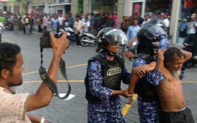 Three journalists arrested in Maldives while covering protests